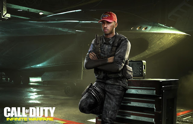 Lewis Hamilton se une al reparto de Call of Duty Infinite Warfare