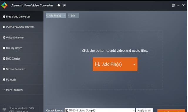 تحميل برنامج تحويل FLV الى MP4 مجانا Aiseesoft Free FLV Converter