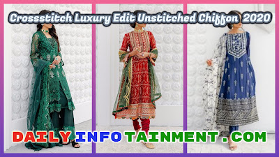 Crossstitch Luxury Edit Unstitched Chiffon Collection 2020