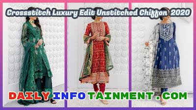 Crossstitch Luxury Edit Unstitched Chiffon Collection 2020