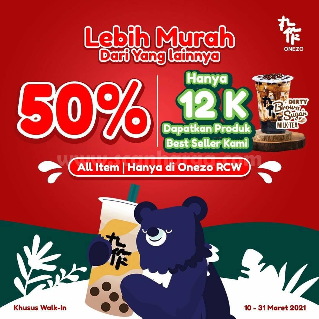 OneZo Promo Dirty Brown Sugar Fresh Milk DISKON 50% Harga hanya 12K