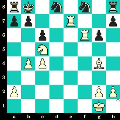 Les Blancs jouent et matent en 2 coups - Helmut Pfleger vs Zadok Domnitz, Tel Aviv, 1964