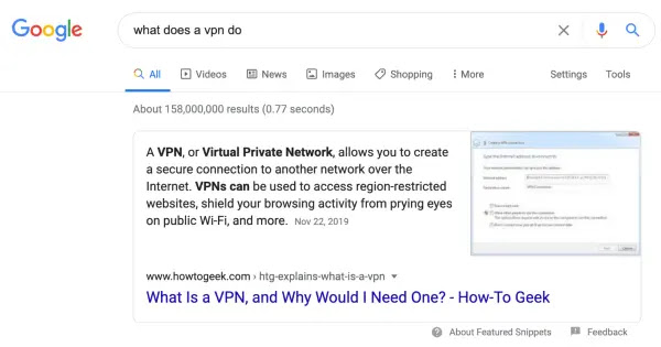 Featured Snippet feature has been improved.