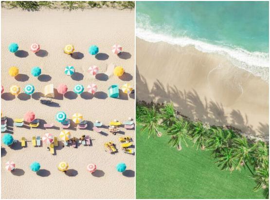 aerial beach photography prints home decor