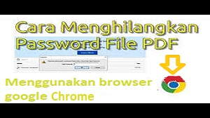 Cara Menghilangkan Password PDF