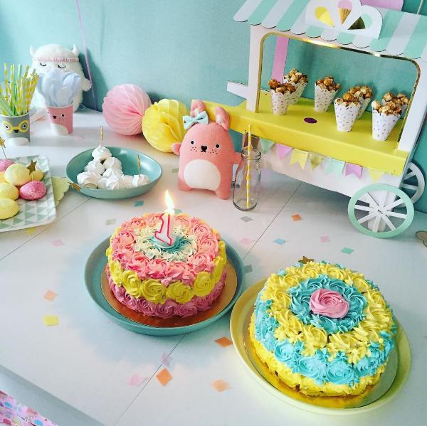 gâteau crémeux pour un bel anniversaire de fille