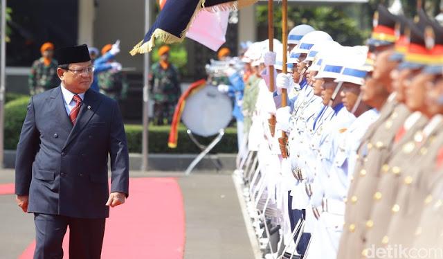 Sertijab Menhan Prabowo, Mahfud MD hingga Edhy Prabowo Hadir