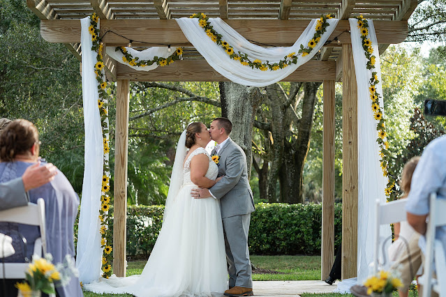 Bride and Groom just married kiss Magnolia Manor Wedding Photos by Stuart Wedding Photographer Heather Houghton Photography