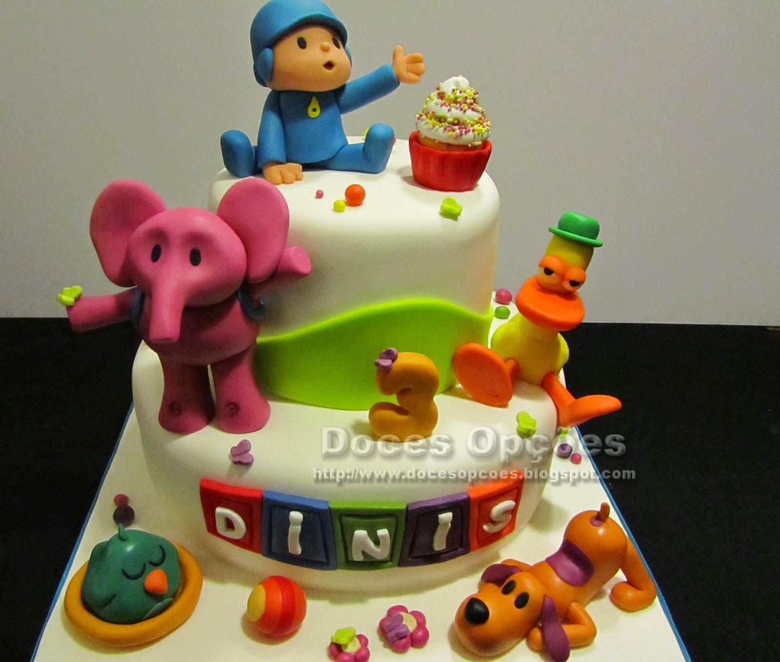 Amado Doces Opções: Bolo de aniversário com o Pocoyo e amigos BJ82