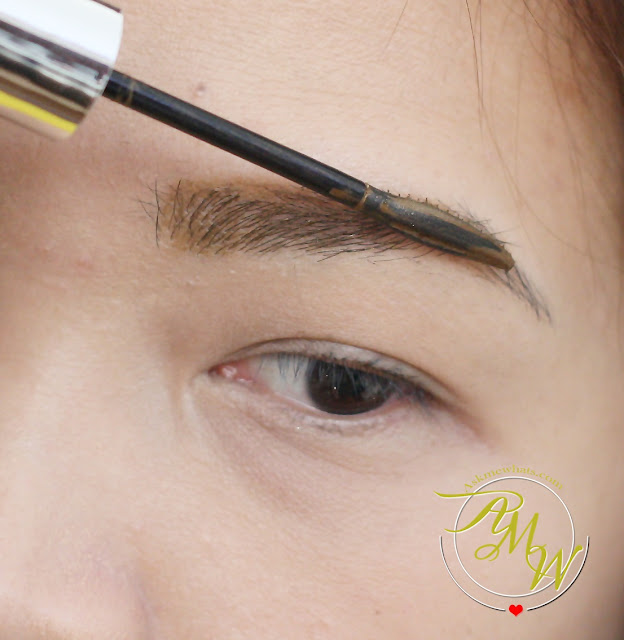 a photo on how to use Maybelline Fashion Brow Precise Shaping Pencil Natural Brown Review, Maybelline FashonBrow Pomade Crayon BR-4 Review.  Maybelline Brow PRecise FIber Volumizer Mascara in Soft Brown Review