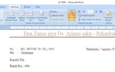 cara membuat mail merge di ms word 2007