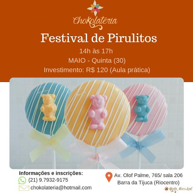 Curso de Pirulitos - Chokolateria Maio 2019