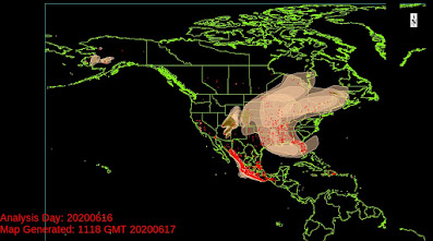 fire smoke map for North America