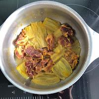 Ingrédients compote rhubarbe dattes après cuisson