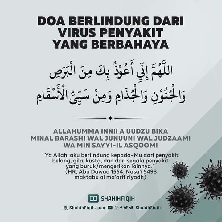 Virus Corona Makin Bahaya, Yuk Amalkan Doa Ajaran Nabi Muhammad