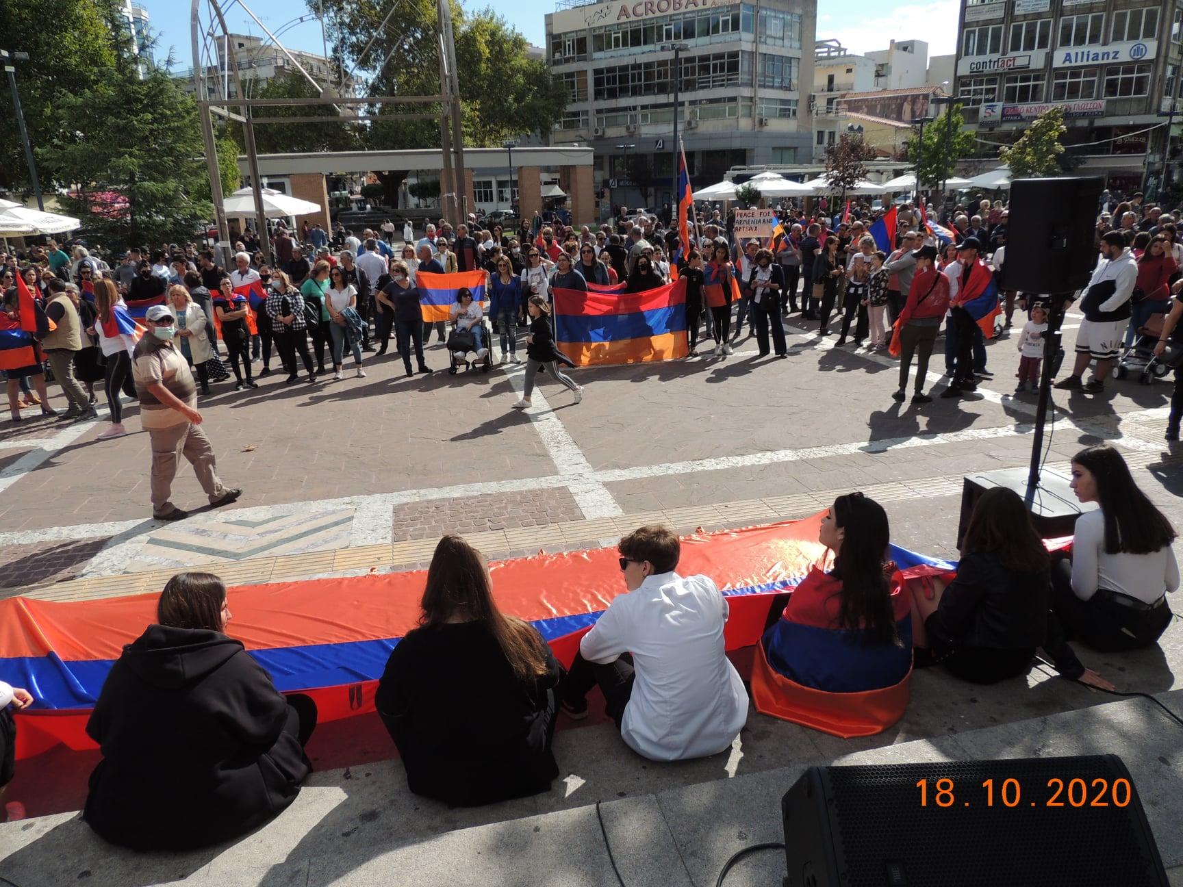 Μουσικό μήνυμα ειρήνης από την πλατεία της Ξάνθης για την Αρμενία