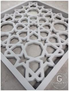 kerajinan aluminium cor masjid
