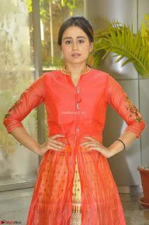 Simrat in Orange Anarkali Dress 29.JPG