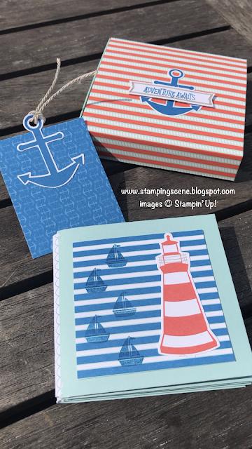 mini envelope album using stampin up kit with zoe tant uk
