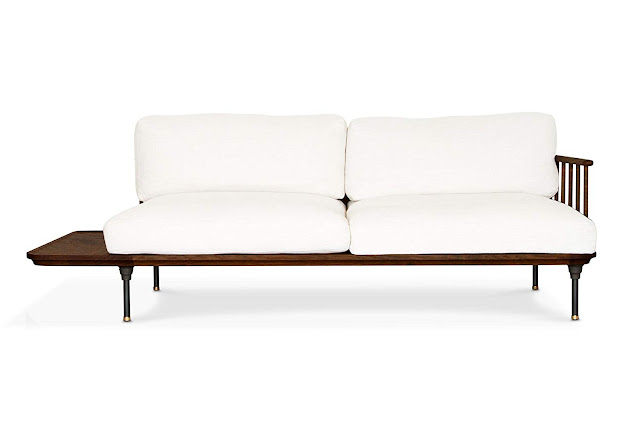 beautiful white wooden sofa for small living rooms