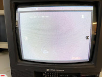 The Atari 7800 running as listed on the auction.