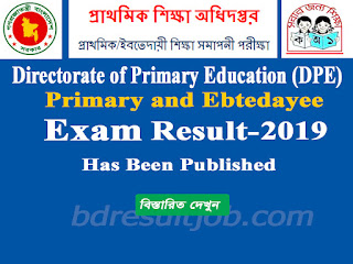 Primary and Ebtedayee Examination Result 2019