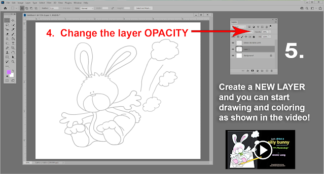 Learn how to use Annie Lang's line art character patterns in Photoshop to make digital clipart