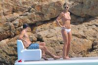 Vogue Williams in Pink & White Bikini