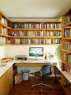 oficina con libreria