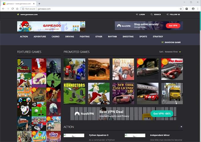 redirecciones a Gameaoo.com