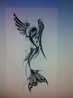qswitch: angelic mermaid tribal tattoo : Qswitching the ...