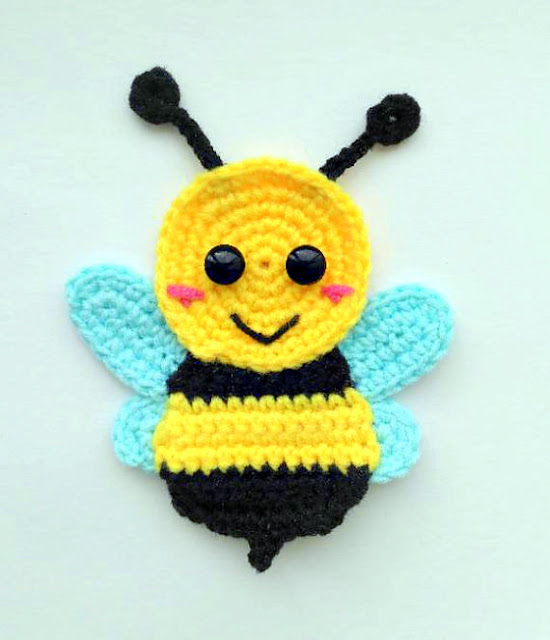 bumble bee applique crochet pattern