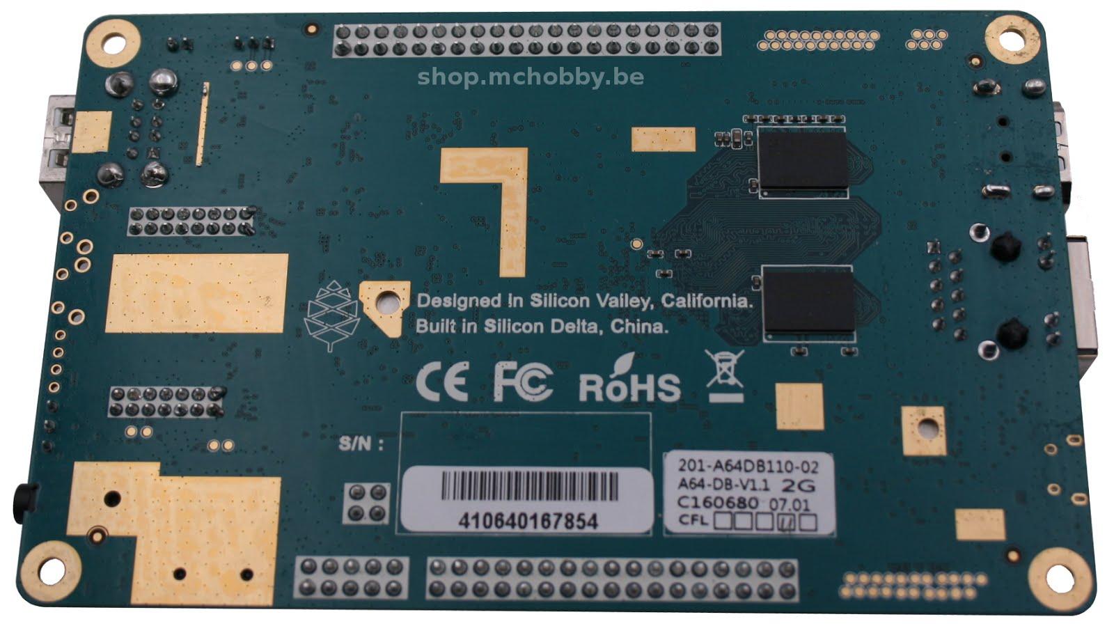 Pine64 - Nano-Ordinateur à base du processeur AllWinner A64