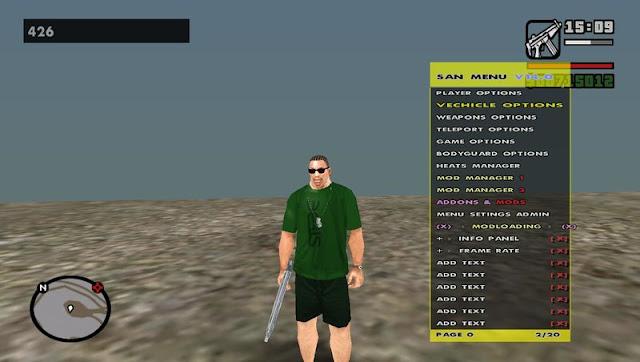 GTA San Andreas New Cheat Menu Download For Pc
