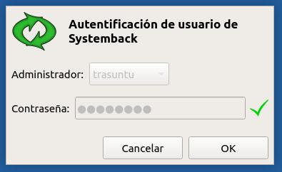 Autentificación Systemback