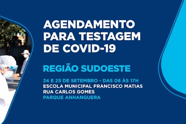 Goiânia realiza agendamento para testagem de Covid-19