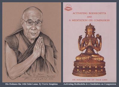 His Holiness the Dalai Lama. Tenzin Gyatso. Tibetan Buddhism. Bodhichitta. by Travis Simpkins