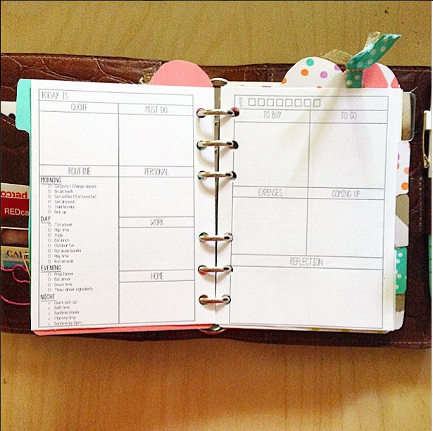 Day on Two Page Filofax Inserts | MsWenduhh | Bloglovin'