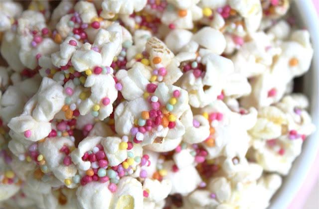 Sweet Sprinkles Popcorn - Last Minute Sprinkles Party Part Two by Eliza Ellis
