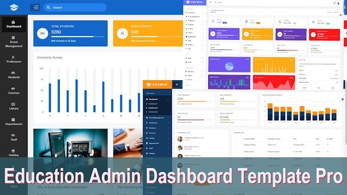 Education Admin Dashboard Template Pro | Free downlead