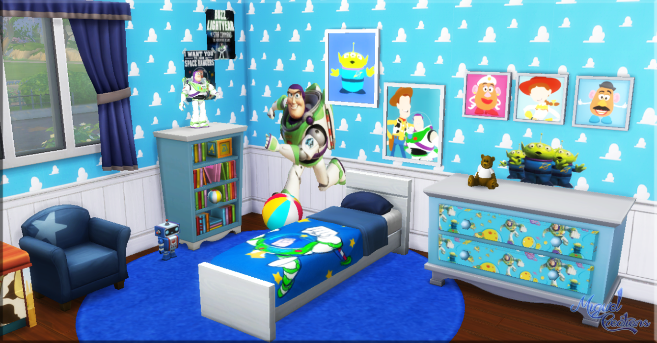 Sims 4 CC's - The Best: Toy Story Bedroom Set by Miguel