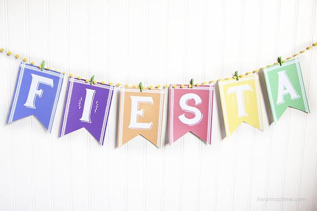 Fiesta Free Printable Banner.