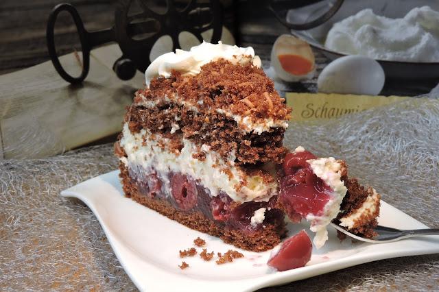 Торта с череши и крем с маскарпоне