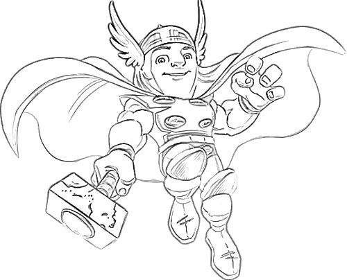 Super Hero Squad Coloring Pages To Print - Costumepartyrun
