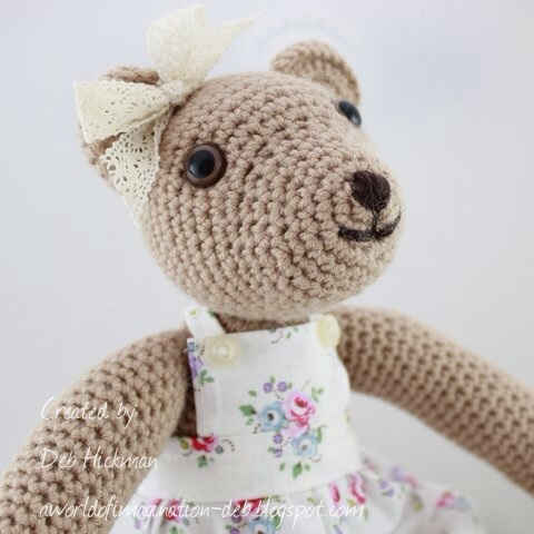 Crochet amigurumi beige Teddy Bear toy for girls. This is Nancy ... | 480x480