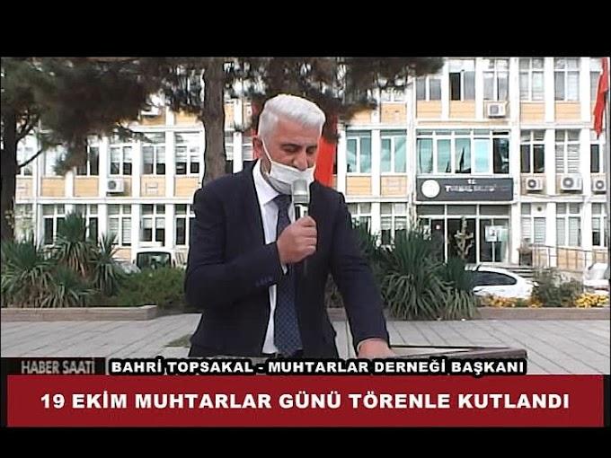 19 EKİM MUHTARLAR GÜNÜ TURHAL'DA TÖRENLE KUTLANDI.