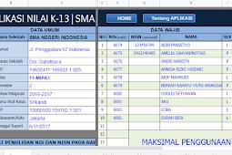Kumpulan Aplikasi Raport K13 Untuk SD, SMP, MTs dan SMA
