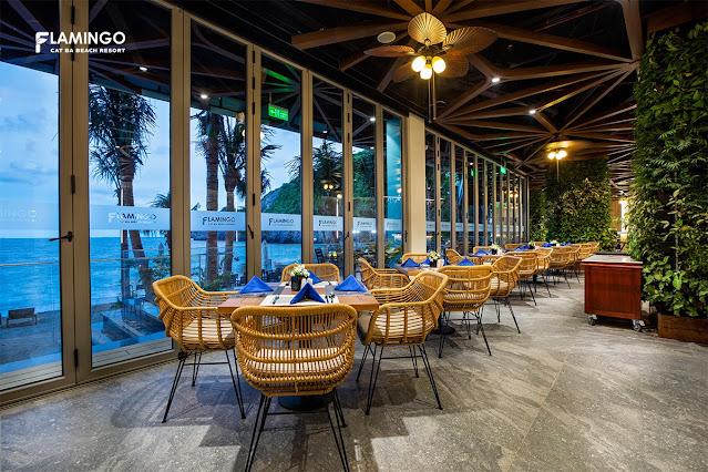 nhà hàng sea flamingo cát bà