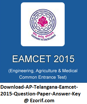 Download AP Eamcet Engineering Question Paper 2015, Download Set-2 Medical Code A Question Answer Key with detailed answers