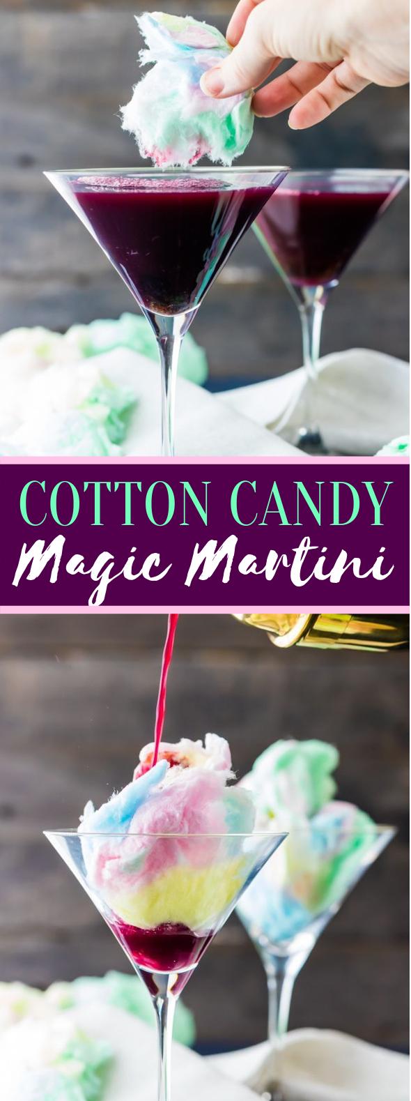 MAGIC COTTON CANDY MARTINI (PLUS KID FRIENDLY VERSION) #drinks #halloween